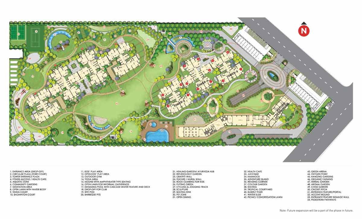 Master Plan of Hero Homes Gurgaon